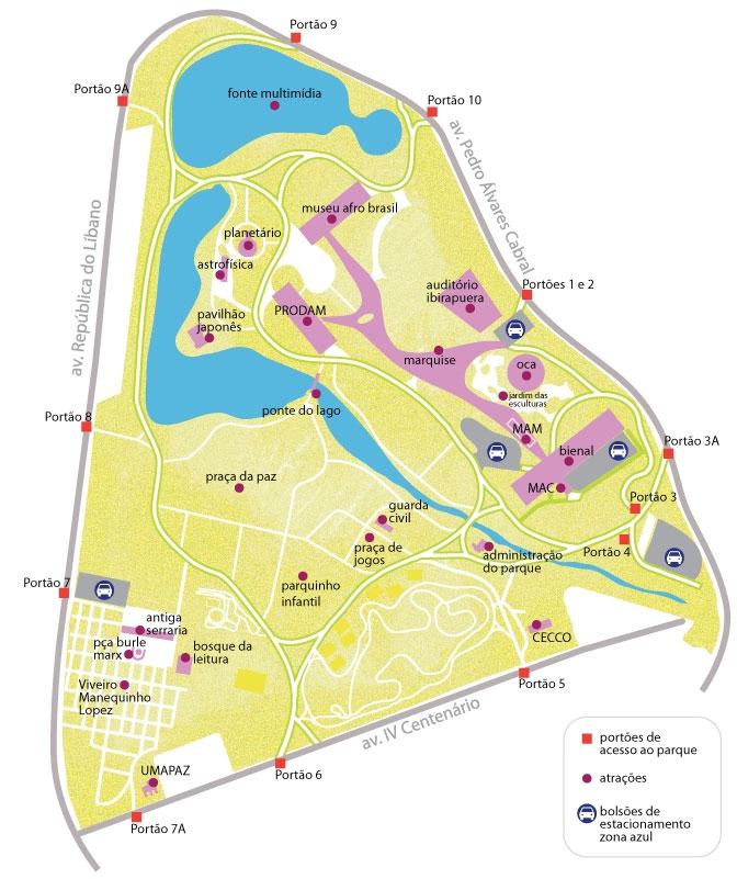 mapa-acessos-Ibirapuera